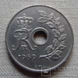 25 эре 1969 Дания (Г.10.38)~, фото №3