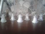 Игрушки ёлочные ангелочки 5см Германия, фото №2