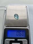 Натуральный природный Аквамарин капля 3,4 карат, фото №4