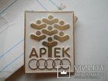 Значок Артек с оригинальным бумажным артековским  бланком, фото №3