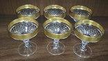 Хрустальные бокалы в позолоте, фото №7
