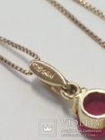 Золотая подвеска с натуральными рубинами и бриллиантами, фото №5