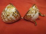 Шкатулка - Яйцо - золотые цветы - фарфор., фото №6