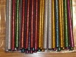 Силиконовый клей для пистолета с блестками 7мм (разноцветый) 38шт, фото №3