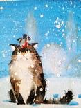 """«- И вы звали гулять?..» Серия """"Детство"""". Художник Ellen ORRO. двп/акрил. 24х18, 2019 г. фото 7"""