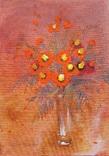 Картина «Букет чорнобривців». Художник Ellen ORRO. Холст/картон/акрил. 25х35, 2019 г
