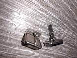 Советские запонки Серебро 875 проба  серебрянные СССР с натуральным камнем 50 е годы, фото №8