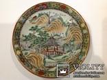 Тарелка - национальный Японский мотив/руч.роспись, фото №3