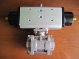 Шаровий кран з пневматичним приводом., фото №5