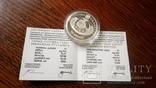 10 рублей 2010 года Беларусь обычная Пустельга обыкновенная Серебро, фото №3
