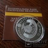 10 рублей 2010 года Беларусь обычная Пустельга обыкновенная Серебро, фото №10