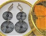 Серьги серебро 925 проба 7,91 грамма, фото №2