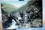 Фото   ( 5 штук+1 )групповое с курорта Пятигорск. 1952 год. Псевдоцвет., фото №6