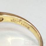 Винтажное золотое кольцо с натуральным опалом и бриллиантами, фото №10