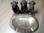 Бронзовая пепельница ЧСЗ Три обезьяны