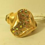 Кольцо Сердце сатин