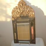 Антикварное зеркало латунь и дерево
