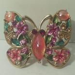 Кольцо Бабочка эмали фото 1