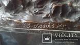 Старинная бронзовая подписная фигурка, фото №6