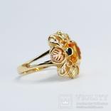 Золотое кольцо (10к) с натуральным цитрином, фото №4