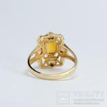 Золотое кольцо (10к) с натуральным цитрином, фото №5