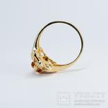 Золотое кольцо (10к) с натуральным цитрином, фото №6