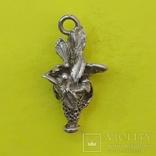 Кулон Ваза з Квітами Срібло 7,31 грам., фото №2