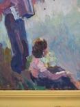 """В.Кнышевский""""Теплый вечер"""", к.м.40*30см,1979г, фото №6"""