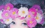 Картина «Космея». Художник Ellen ORRO. Холст на картоне/акрил, 25х30, 2018 г. фото 3