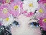 Картина «Космея». Художник Ellen ORRO. Холст на картоне/акрил, 25х30, 2018 г. фото 8