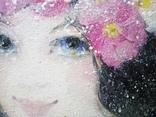 Картина «Космея». Художник Ellen ORRO. Холст на картоне/акрил, 25х30, 2018 г. фото 9