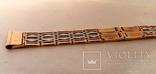 Браслет для часов комбинированный  Золото 585 / Платина 950 пробы. Унисекс, фото №3
