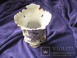 Старинная фарфоровая  ваза с ручной росписью с клеймом 19 ст, фото №7