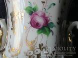Старинная фарфоровая  ваза с ручной росписью с клеймом 19 ст, фото №8
