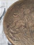 Бронзовая тарелка, фото №4