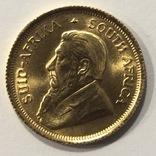 1/10 крюгеранда 1980 год ЮАР золото 3,34 грамма 917', фото №3