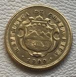 5 колонес 1900 год Коста Рика золото 3,85 грамма 900', фото №3