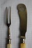 Вилка и нож ручки из кости, фото №8