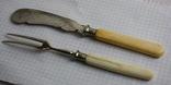 Вилка и нож ручки из кости, фото №9