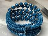 Винтажный синий браслет с Англии 57 грамм, фото №3