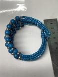 Винтажный синий браслет с Англии 57 грамм, фото №4