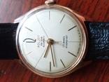 Золотые часы poljot de luxe 29 jewels shockproof 583 проба., фото №2
