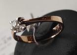Кольцо, бриллианты кд007 фото 3