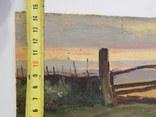 Сельский пейзаж. Закат. Картина маслом на холсте (7), фото №4