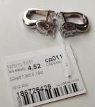 Серьги, бриллианты кд011, белое золото