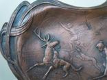 Антикварное панно барельеф  Амазонки на охоте Модерн фото 2