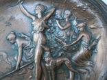 Антикварное панно барельеф  Амазонки на охоте Модерн фото 3