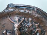 Антикварное панно барельеф  Амазонки на охоте Модерн фото 4