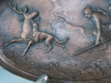 Антикварное панно барельеф  Амазонки на охоте Модерн фото 7