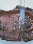 Антикварное панно барельеф  Амазонки на охоте Модерн фото 9
